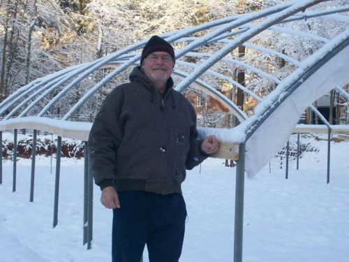 Greenhouse w/ snow