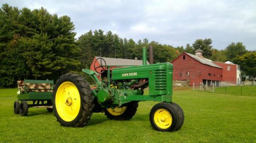 Our John Deere A looking good at the farm