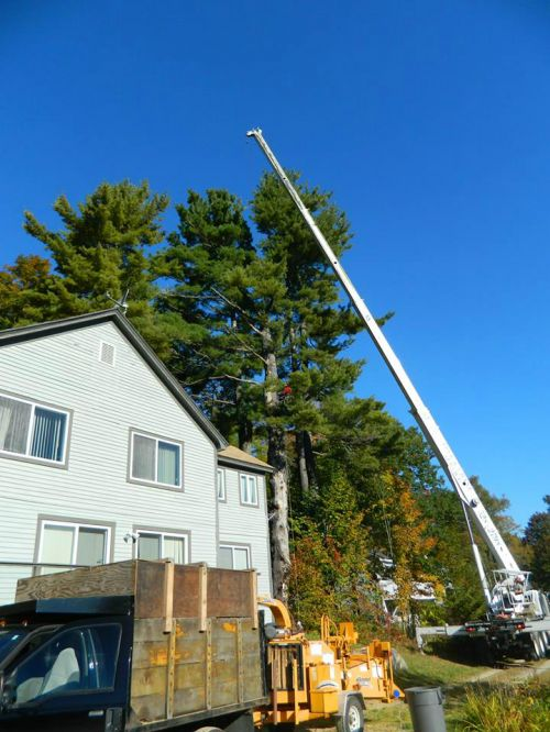 crane work near a home
