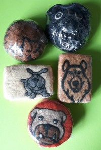 Needle Felted dogs and cats