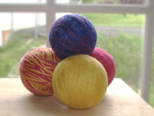 Dryer Balls Set of three Bold and Bright colors