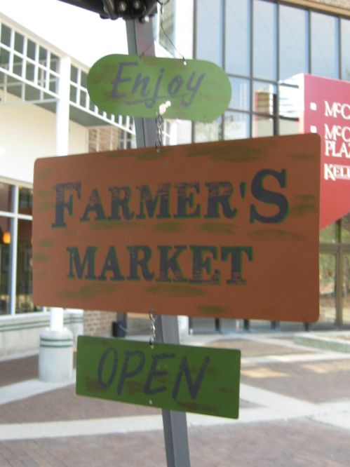The Farmers Market is Open
