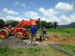 Installing our well pump.