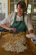 Becky making granola