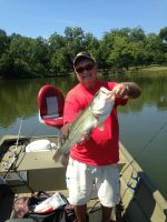 An 8 pound bass caught in July 2015