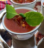 Gazpacho with Micro Greens