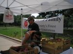History!  Prepping our first-ever farmers market, Schuylkill River Park, Philly