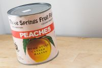 Our Yellow Freestone Peaches in Light Syrup - used by permission http://messyandpicky.com