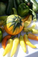Pepper & Squash display @ Greenbelt Market - photo by permission of Karl Gary and Greenbelt Farmers Market