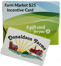 A Farm Market $25 Incentive Card