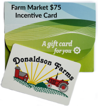 A Farm Market $75 Incentive Card