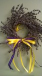 small lavender wreath