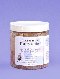 Lavender Bath Salts, 10 oz. wt.
