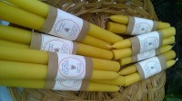 Beeswax candles-pair