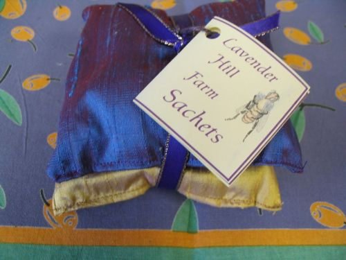 Lavender-filled Silk Sachets