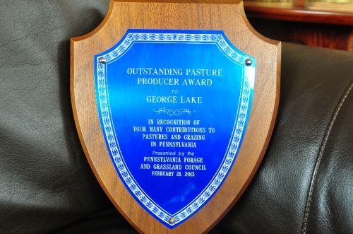 The GrassLand award that we were given this year.