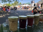 At a farmer's fair at the Purple Porch in South Bend