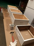 painting the new hive boxes with shungite paint