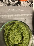 Making pesto is one of our hobbies