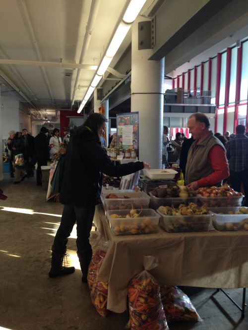 Joe is all smiles at the Indy Winter Farm Market!