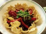 Taco salad with microgreens