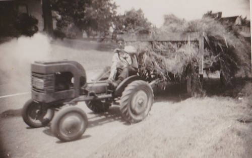 Gilbert Farms first tractor