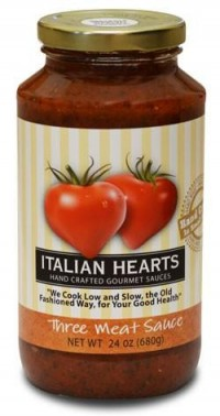 Italian Hearts Pasta Sauce - Three Meat