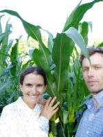 Matthew and Allison enjoying the cool evenings in the Genuine Organically Grown Corn Patch