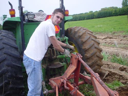 Setting the plow for spring tilage