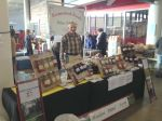 Rod manning HPF booth at Indy Winter Market