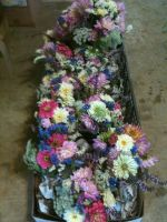 Bouquets packed up for transport