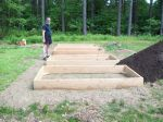 Dan setting up the raised beds