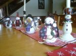 Christmas snowmen on table