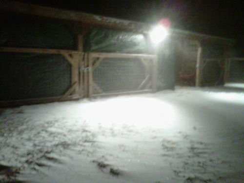 Barn, all ready for the storm