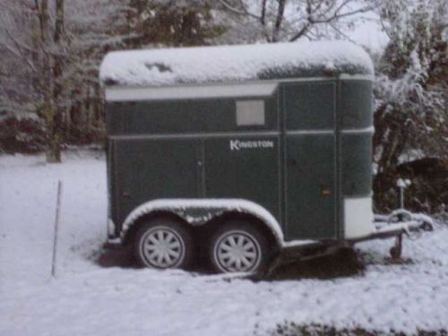 trailer after first autumn snow