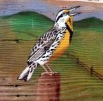 Meadowlark on sign
