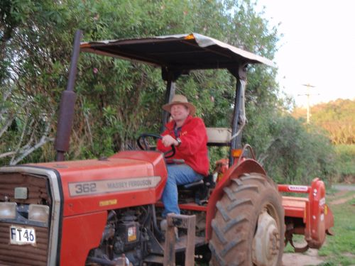 Tom on Tractor