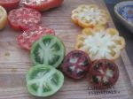 We grow over 40 varieties of heirloom tomatoes