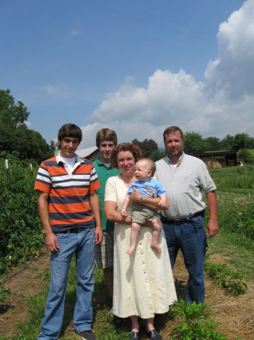 Frank and Jeanette and boys