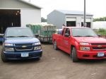 Pickup loads ready to go