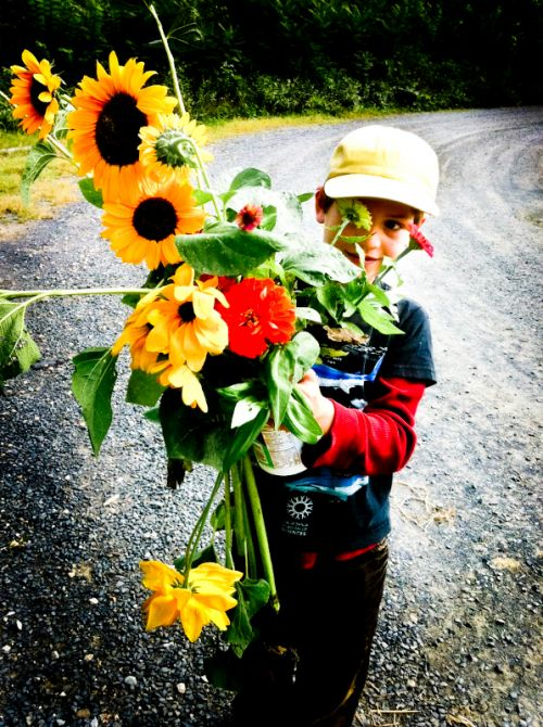 harrison with flowers