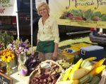 Mary at farm stand