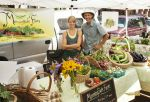 Meryl & George at farm stand
