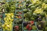 Peppers on Market Table