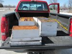 A few hives ready to be cleaned
