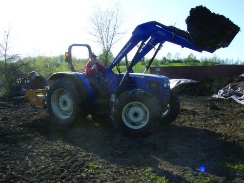Mike on his brand new tractor