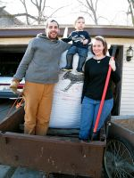 Philip, Kelli and Elijah John with 2,000 lbs of Vermont Compost