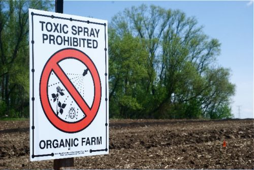 No Spray Zone