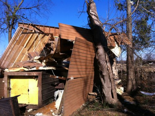 outbuildings overturned