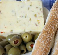 Raw Milk Muffaletta (Olive & Garlic Jack)